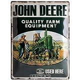 Nostalgic-Art 23137 John Deere - Quality Farm Equipment, Blechschild 30x40 cm