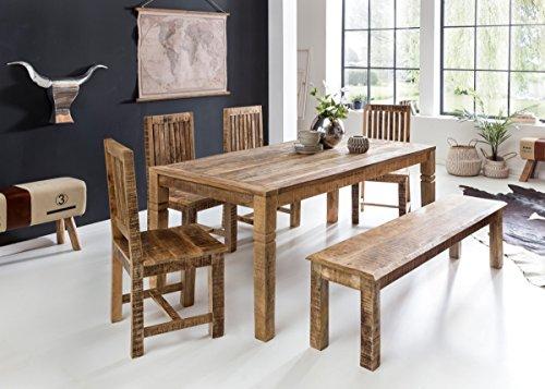Wohnling sala da pranzo Wohnling rustica in legno massello di mango ...