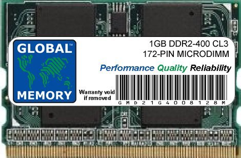 1Go DDR2 400MHz PC2-3200 172-PIN MICRODIMM MÉMOIRE RAM POUR ORDINATEURS PORTABLES