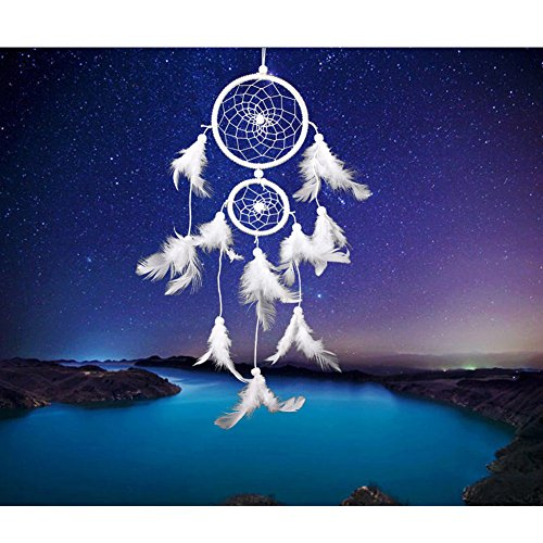 Acchiappasogni a rete con piume, realizzato a mano in stile tradizionale degli indiani d'America, decorazione da appendere alla parete o in auto, in vari stili, ottima idea regalo LD243 LD230