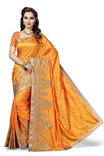 Rani Saahiba Embroidered Art Silk Saree(SKR2473_Gold)