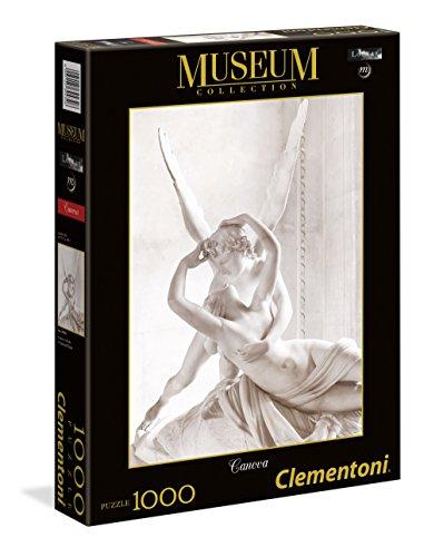 Clementoni- Canova Amore e Psiche Museum Collection Puzzle, 1000 Pezzi, 39432
