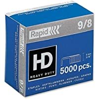 Rapid 9/8 Staples R9 and R49 8mm shank length (Pack 5000)