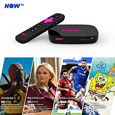 NOW TV Smart Box with 4K and Voice Search including 4 NOW TV Passes. Watch amazing entertainment. No contract. No hidden fees.