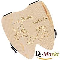Demarkt Organisateur Dents Boîte Rangement Entreposage Bois Lait Boîte Dents D'Enfant Conservation Permanente Souvenir Haut Langue Anglais Bébé 1PC