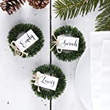 Rustic Christmas - Wreath Name Place Cards
