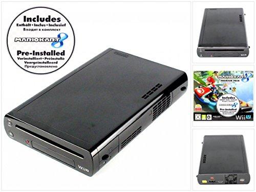 Nintendo Wii U Konsole 32 GB in Schwarz - nur Konsole, ohne Zubehör inklusive MarioKart Download (Wii U 32)