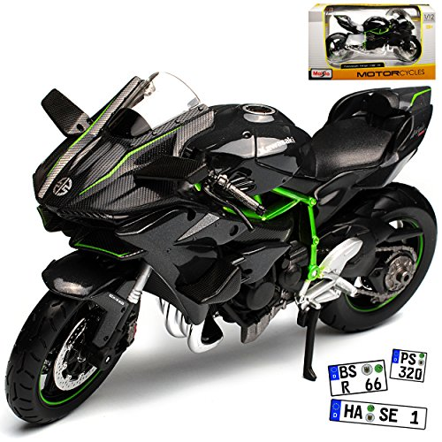 Maisto Kawasaki Ninja H2R Karbon Schwarz Ab 2014 1/12 Modell Motorrad (Kawasaki Motorrad Ninja)