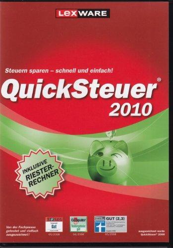 QuickSteuer 2010 (für die Steuererklärung 2009) - DVD-Box (Steuer Jason)