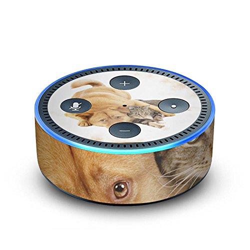 DeinDesign Amazon Echo Dot 2.Generation Folie Skin Sticker aus Vinyl-Folie Hund und Katze Cat Dog -