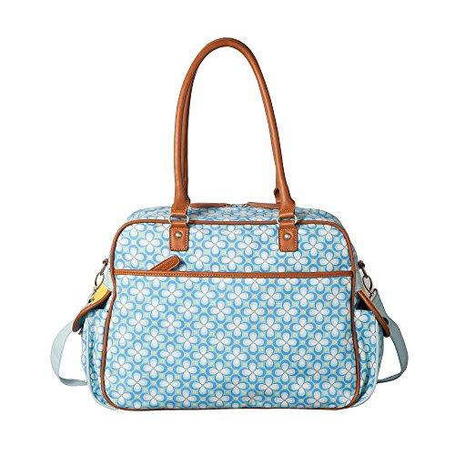 Room Seven BV Wickeltasche F157004 Mädchen Mädchenhandtasche 40x30x14 cm (B x H x T) Blau (Pink)