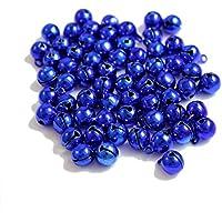Kleenes Traumhandel - Set de 100 cascabeles de cobre (11 x 7 mm), azul, 11 x 7 mm