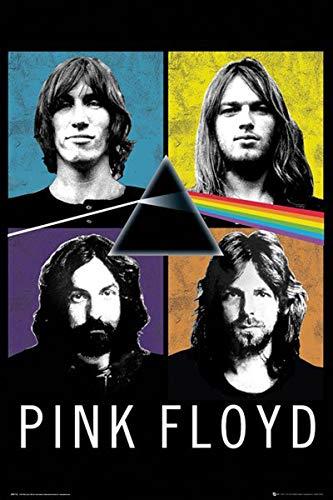 Close Up Poster Pink Floyd - Band (61cm x 91,5cm) + 1 Powerstrips®, tesa adhésifs Double face-20pcs