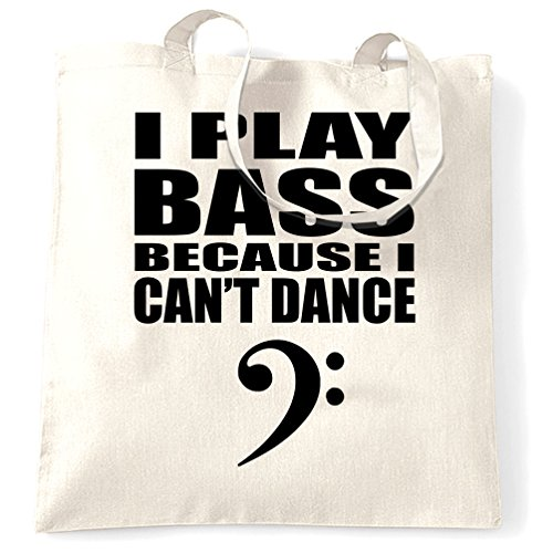 Tim And Ted Neuheit Musik Tragetasche Ich spiele Bass Weil Can not Dance White One Size