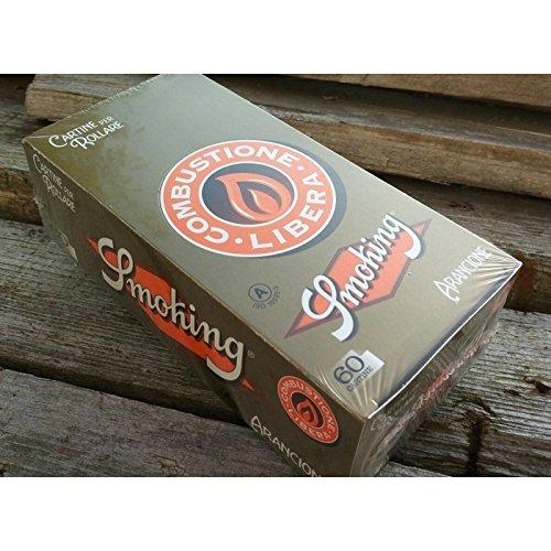 Tamaño: Nº8. Detalles: 60 hojas por librito. Cantidad: 50 unidades. En la actualidad, Smoking es una de las marcas líderes del mercado de libritos de papel de liar. Además, es una de las empresas españolas más exportadoras, comercializándose en los 5...