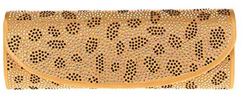 Pochette elegante pochette cerimonia borsetta donna strass pochette maculata pochette catena oro