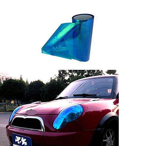 Preisvergleich Produktbild Sport family Auto Scheinwerfer Folie Tönungsfolie Aufkleber 200cm x 30cm für Scheinwerfer,  Rückleuchten,  Stoßfänger,  Haubenhaube,  etc(Verfärbung Blau)