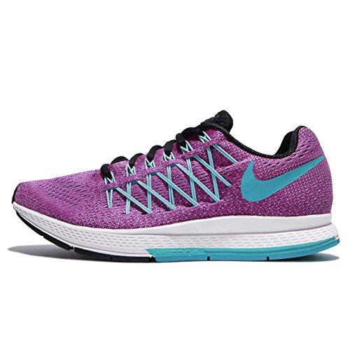 Nike Wmns Air Zoom Pegasus 32, Zapatillas de Running Mujer, Morado (Hyper Violet / Gmm Bl-White-Blk), 36 EU