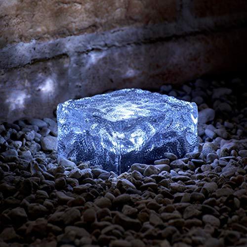Auraglow Solar LED mattiertes Glas Gartenwegziegel-Leuchten für Außenbeleuchtung, Pflaster und Terrasse - 4er Pack