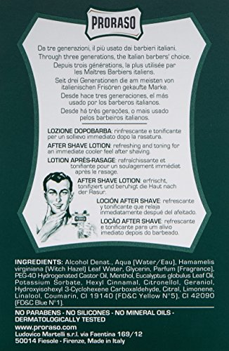 Proraso Green After Shave Lotion, 1er Pack (1 x 100 ml)