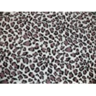 Pet Blanket, Polar Fleece, Snow Leopard Print (95 x 70 cm : 38 x 28 inches)