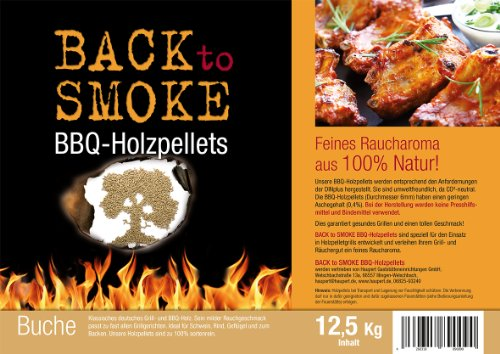 Grill Pellets Back to Smoke Buche, 12.5 kg