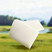 YIWANGO Latex Pillow For Two Couples Pillow Natural Anti-snoring Cervical Shoulder Double Pillow