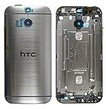 Original HTC Akkudeckel / Backcover für das HTC One M8 - grey / grau (Akkufachdeckel, Batterieabdeckung, Rückseite, Back-Cover) - 74H02615-01M - OHNE NFC