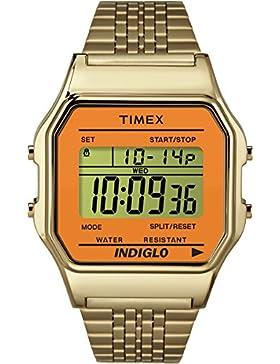 Timex Unisex-Armbanduhr Digital Quarz Edelstahl TW2P65100