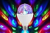 Briloner Leuchten 0528-003 LED Partylicht, Disco Lichteffekte, selbstdrehend, Farbwechsel, Leuchtmittel, LED Birne 3 W, für alle Lampen mit E27 Fassung, Kunststoff, 8 x 8 x 13 cm