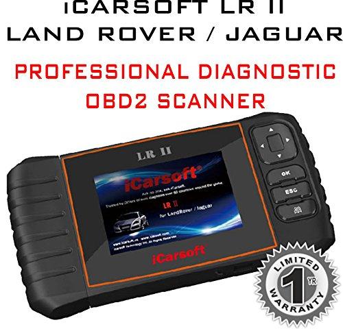 iCarsoft LR II für Land Rover/Jaguar Professional Diagnose OBD2Scanner Lesen transparent Löschen Fehlercodes (Land Rover-scanner)