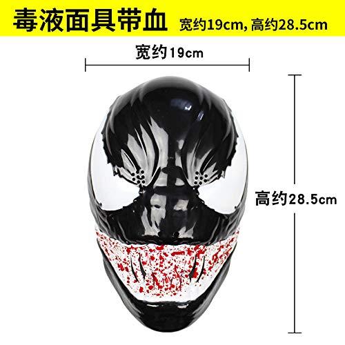 Paare Gruselig Kostüm - JRKJ Venom Cos Mask Gruselige & Lustige Masken - Perfekt Für Karneval & Halloween - Erwachsenen Kostüm Unisex Eins Für Alle @ 1