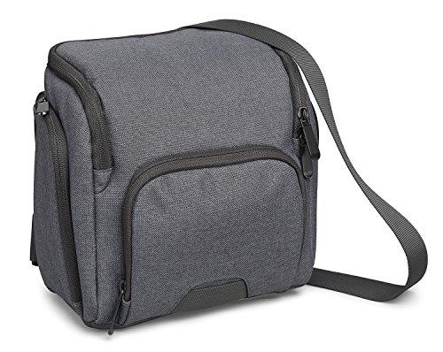 Komplett Gefütterte Umhängetasche (Cullmann STOCKHOLM Maxima 85+ stylische Kameratasche für mittere DSLR-Kamera mit Objektiv, 26 x 20 x 7 cm grau)