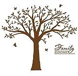 BDECOLL Familia grande como la rama en la pared Árbol Wall Decal Wall Sticker Cuarto de estar Nursery (El marco de la foto no está incluido) (Marrón)