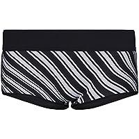 GlideSoul 405SH2080 Pantalon Corto, Mujer, Estampado Rayas/Negro, M