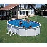 FEELING Pool-Set 610x375x120 cm weißer Stahlmantel mit viel Zubehör für eine tolle Pool-Saison