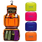 #7: ShopAIS Travel your life! womens Ladies toiletry storage bag hanging folding cosmetic organizer large capability pouch