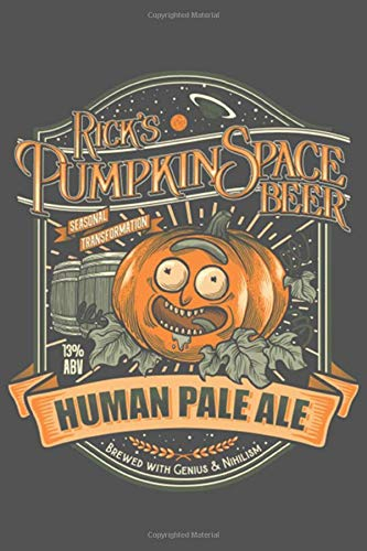 Human Pale Ale: Old Scientist and his Grandson  Pumpkin Space HPA 150 Pages - Large (6 x 9 inches) Notebooks and Journals