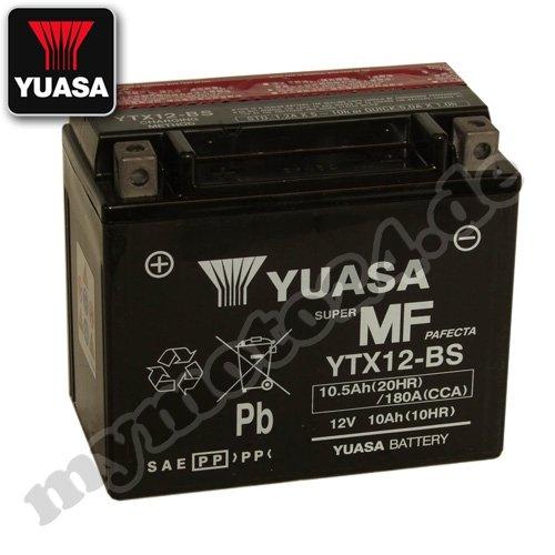Batteria YUASA-YTX12BS, 12V/10Ah (dimensioni: 150x 87x 130)