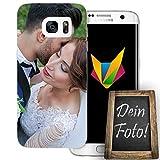dessana Hochzeit Handyhülle Personalisiertes Geschenk dünne Silikon TPU Case Eigenes Foto Motiv für Samsung Galaxy S7 Edge