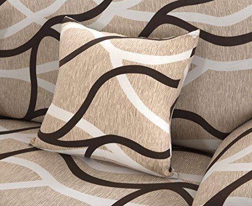 Set di federe per cuscino,confezione da 4 pezzi,con chiusura lampo,in tessuto morbido di poliestere,Wave,4PCS Pillow Case:45*45CM