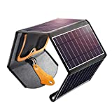 CHOETECH Solar Charger, 24W Potable Solar Panel Power Bank with Dual USB Ports