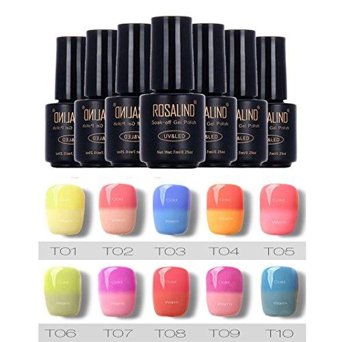 KEERADS Vernis gels semi-permanents rosalind 7ml change de couleur de vernis à ongle de gel nail art polonais a ongles gel gel uv polonais