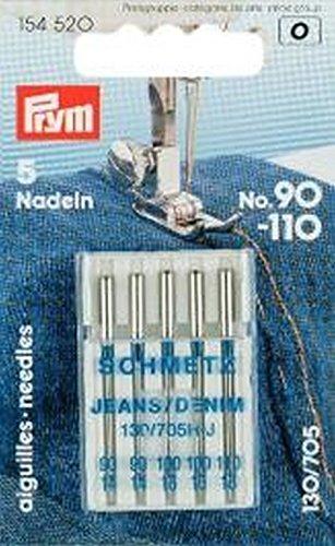Prym 154520 Nähmaschinennadeln 130/705 Jeans 90-110 - Großhandel Öse Spitze