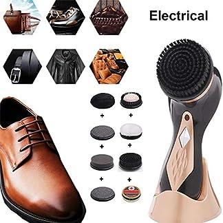Cepillo Eléctrico para Zapatos con 7 accesorios de taladro+betún,mini cepillo eléctrico portátil para zapatos,interfaz de carga USB Cepillo eléctrico automático para automóviles Lustrador de zapatos