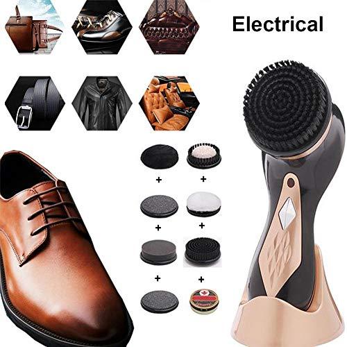 Cepillo Eléctrico Zapatos 7 accesorios taladro+betún,mini