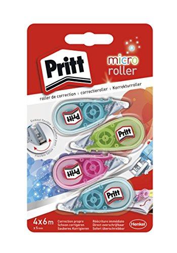 Pritt Micro 4Stück Korrekturroller, 5mm x 6m - 4 Schubladen Breite Brust