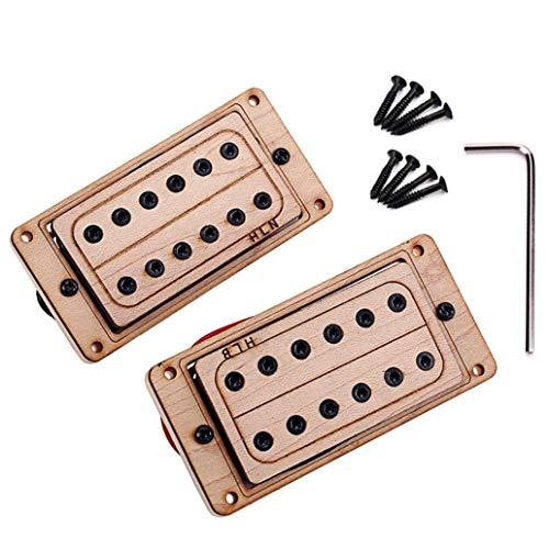 perlo33ER 2Pcs Maple Wood 6 String Humbucker Pickups für E Gitarren Ersatzteile -