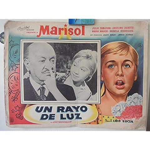 Original Mexican Lobby Card Un Rayo De Luz Marisol Julio San Juán Dirigido por Luis Lucia