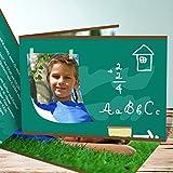 Einschulung Karten, Tafelkreide 5 Karten, Horizontale Klappkarte 148x105 inkl. weiße Umschläge, Grün